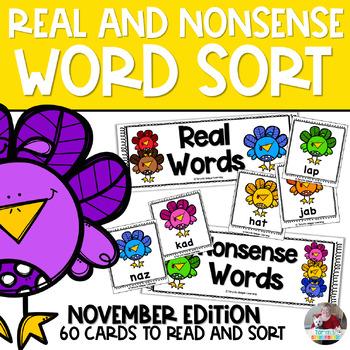 Nonsense Words and Real Words Sort- November