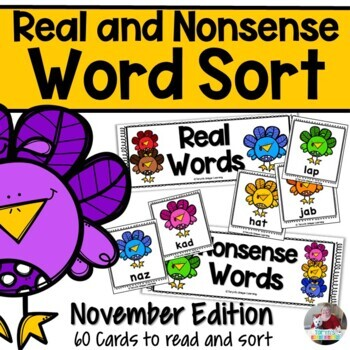Nonsense Words and Real Words Sort- November