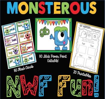 Nonsense Word Fluency by Ms. Lendahand (Monster Theme)