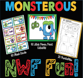 Monster Nonsense Word Fluency R.T.I. Resource Pack
