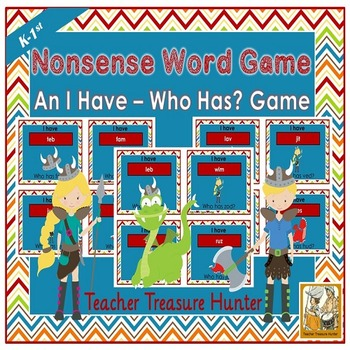 Nonsense Words card GAME I have who has  35 cards with pictures DIBELS