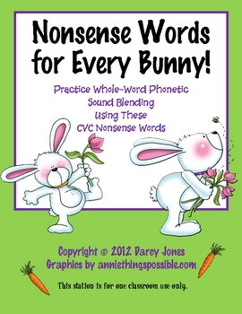 Nonsense Words for Every Bunny!