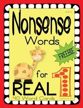 Nonsense Words FREEBIE