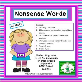 Nonsense Words (list/flashcards)