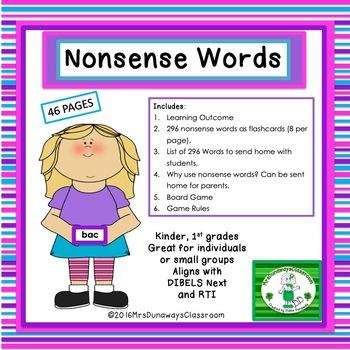 Nonsense Words (list/flashcards)