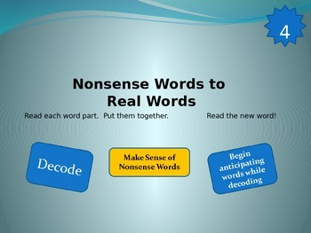 Nonsense Words to Real Words Level 4