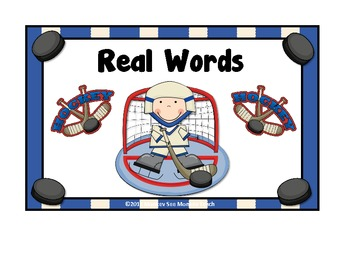 Nonsense Words vs Real Words/ Hockey Theme