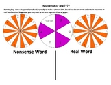 Nonsense or Real Word spinners