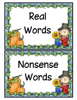 Nonsense or Real Words with Sammy Scarecrow and Friends