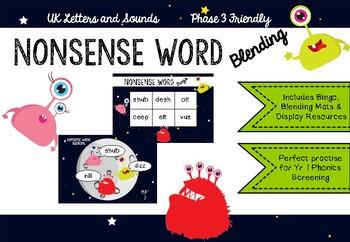 Nonsense word blending UK Phonics Phase 3