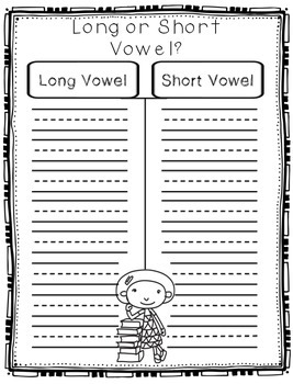 Nonsense word, long, short vowel activity