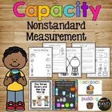 Nonstandard Capacity Unit for Kindergarten or 1st Grade Measurement Science Math