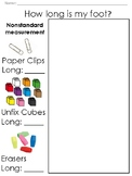 Nonstandard Measurement-Tracing and Measuring Foot: Paper