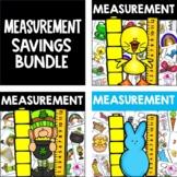 Nonstandard Measurement Center March BUNDLE, Easter, Spring, St. Patrick's Day
