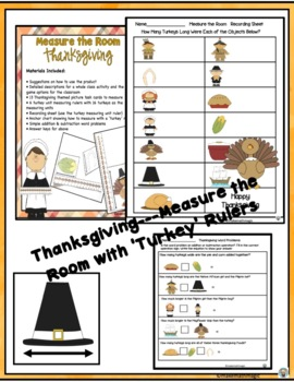 Nonstandard Measurement Center-Thanksgiving Measure the Room