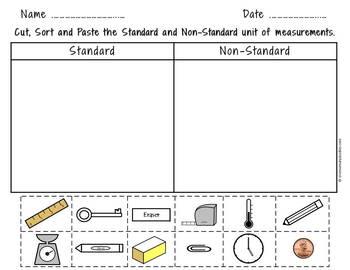 Nonstandard Measurement worksheets and task cards bundle | Distance Learning