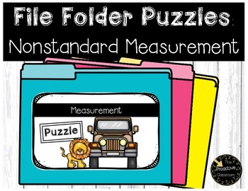 Nonstandard Measurement File Folder Puzzles