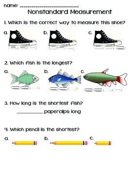 Nonstandard Measurement Quick Worksheet