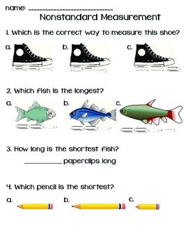 Nonstandard Measurement Quick Worksheet