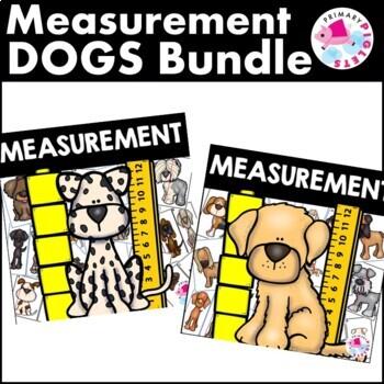 Nonstandard Measurement & Standard Measurement Math Center Dogs BUNDLE