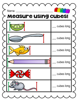 Nonstandard Measurement - Using Cubes