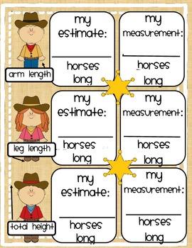 Nonstandard Measurement Yee-haw!