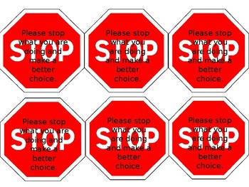 Nonverbal Behavior Redirecting Stop Signs