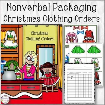 Nonverbal Christmas Clothing Order Task