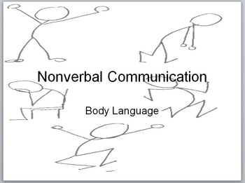 Nonverbal Communication PowerPoint w/ Notes Handout for St