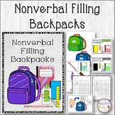 Nonverbal Filling Backpacks