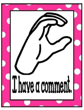Nonverbal Hand Signals