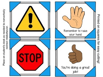 Nonverbal Response Cards (Colorful Frames Edition!)