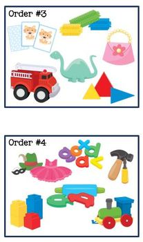 Nonverbal Sacking Toy Orders