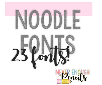 Noodle Fonts {23}- Personal + Commercial Use