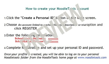 NoodleTools - Account Set up (a step-by-step guide)