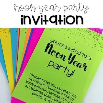 Noon Year Party Invitation