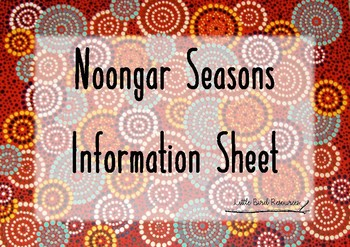 Noongar Seasons Information Sheet