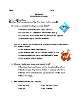 McGraw Hill Wonders - 3rd Grade - Nora's Ark Comprehension Activity
