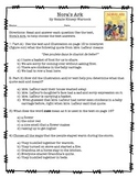 Nora's Ark Text Dependent Questions and Comprehension Worksheet