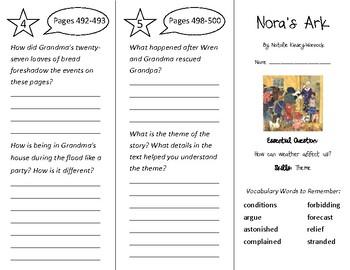 Nora's Ark Trifold - Wonders 3rd Grade Unit 6 Week 2