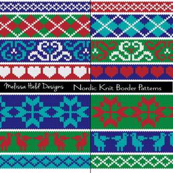 Nordic Knit Border Digital Patterns