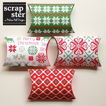 Nordic Patterned Pillow Boxes