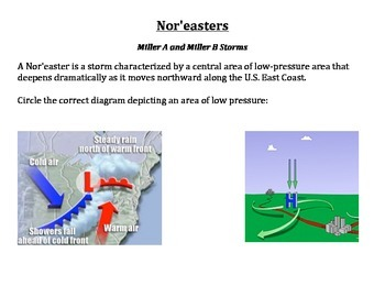 Weather:  Nor'easter's and Snow Forecasting:  Miller A and