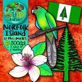 Australian Clip Art {Official symbols & landmarks of Norfolk Island}