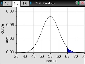 Normal Curve Flipchart: TI-NSpire Calculator Steps; VA SOLs A.9 and AII.11