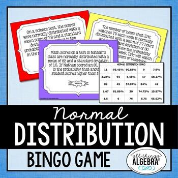 Normal Distribution Bingo