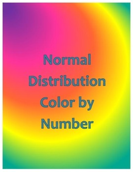 Normal Distribution Color by Number