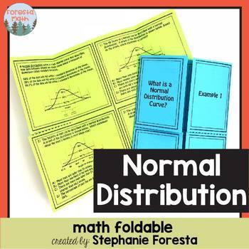 Normal Distribution Foldable