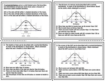 Normal Distribution Foldable