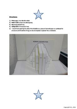 Normal Distribution Foldable Popup